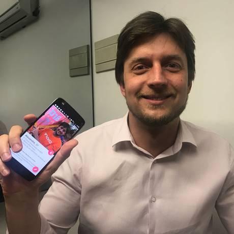 Alexandre Guerra, candidato do Novo no DF, usa aplicativos de paquera para pedir voto Foto: Divulgação