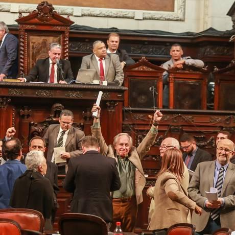 Votação do reajuste do Servidor Judiciário na Alerj Foto: Marcelo Regua / Agência O Globo