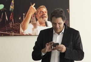 O ex-prefeiro Fernando Haddad, candidato a vice na chapa de Lula Foto: Edilson Dantas / Agência O Globo