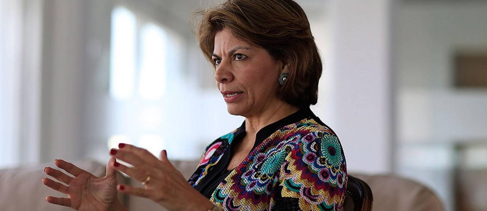 Laura Chinchilla, cientista política e ex-presidente da Costa Rica, em São Paulo Foto: Edilson Dantas / Agência O Globo