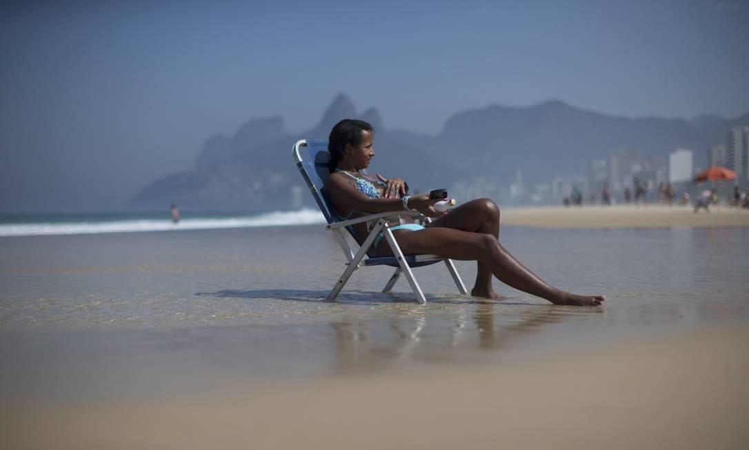 Marca supera os 34 graus registrados no dia 17 de julho pelo Instituto Nacional de Meteorologia (Inmet) Foto: Márcia Foletto / Agência O Globo