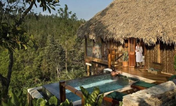 Blancaneaux Lodge, em Belize Foto: Divulgação