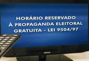 Horário eleitoral gratuito começa no dia 31 de agosto nas rádios e na televisão Foto: Reprodução TSE