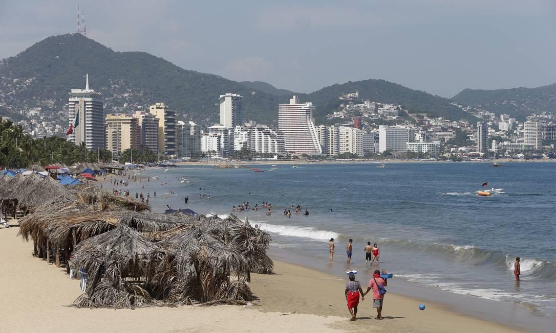 A turística cidade de Acapulco sofre com sequestros e desaparecimentos Foto: Domingos Peixoto / Agência O Globo