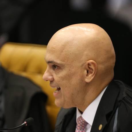 O ministro Alexandre de Moraes foi o primeiro a votar na sessão desta quinta-feira Foto: Ailton de Freitas / Agência O Globo