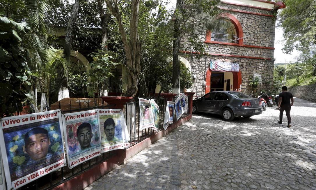 A Escola Raúl Isidros Burgos fica em um vilarejo chamado Ayotzinapa, no interior de Guerrero Foto: Domingos Peixoto / Agência O Globo