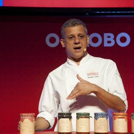 Ronaldo Canha, chef do Quadrucci, falou sobre molhos e compotas com base de tomate Foto: Adriana Lorete / Agência O Globo