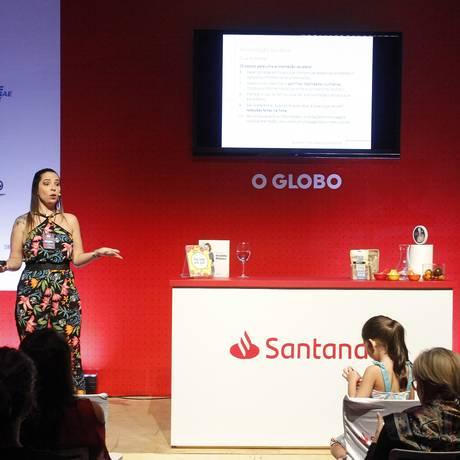 Nutricionista Camila Costa fala sobre a comida como aliada da prática esportiva Foto: Nelson Perez/Luminapress / Agência O Globo