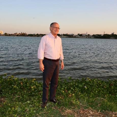 Geraldo Alckmin fez atividade de campanha nas margens do rio São Francisco Foto: Divulgação
