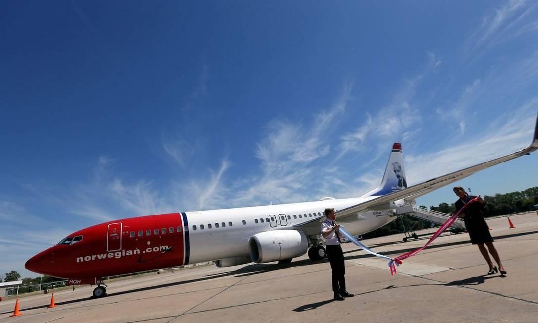 Aeronave da Norwegian Air, empresa norueguesa 'low cost' Foto: Reuters