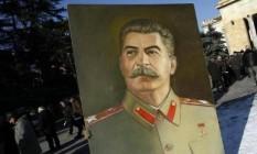 Pintura de Stalin Foto: Reuters
