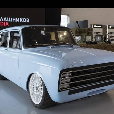 O CV-1, o carro elétrico da Kalashnikov Foto: Bloomberg