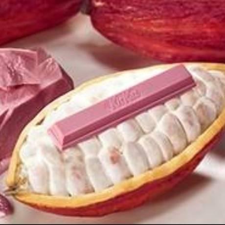 Kit Kat rosa: waffer coberto com a variedade Ruby de chocolate Foto: Divulgação