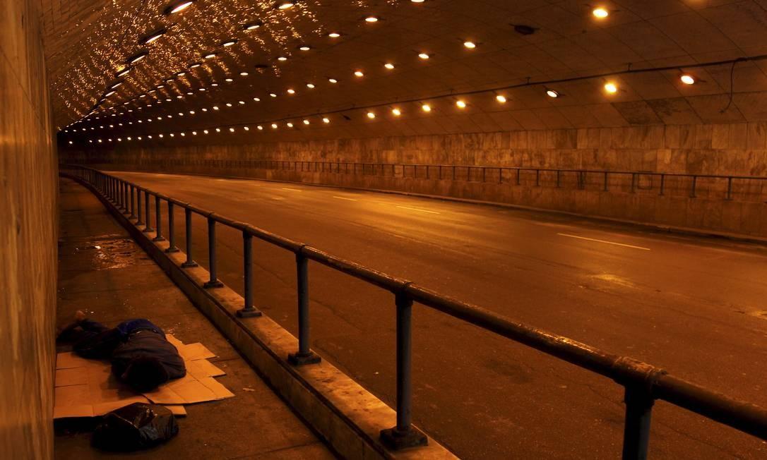 Túnel Major Rubem Vaz, que vai da Rua Toneleiro até a Pompeu Loureiro, em Copacabana Custódio Coimbra / Agência O Globo