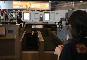 Despacho automático de bagagem na GOL Foto: Pedro Teixeira / Agência O GLOBO