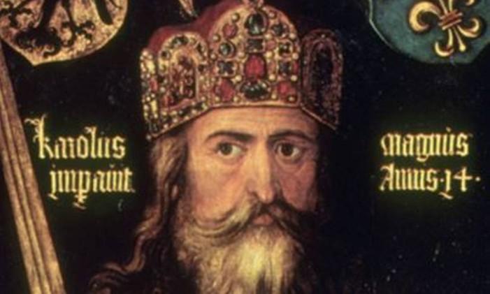 Retrato de Carlos Magno Foto: Reprodução