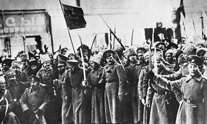 Cena da revolução russa Foto: Reprodução