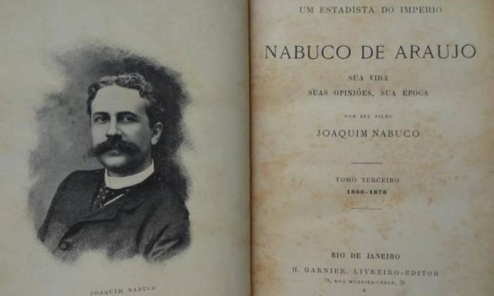Biografia de Joaquim Nabuco Foto: Reprodução