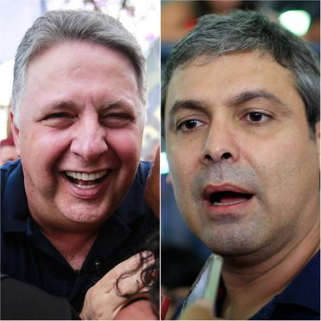 Os candidatos Anthony Garotinho (PRP) e Lindbergh Farias (PT) Foto: Agência O Globo