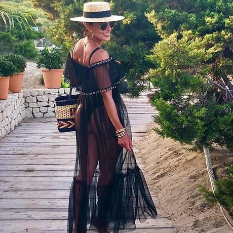 A atriz Juliana Paes está em Ibiza Foto: Reprodução de Instagram