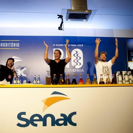 Márcio Silva, do Guilhotina, falou sobre sobre gim e sabores do Brasil Foto: Adriana Lorete / Agência O Globo