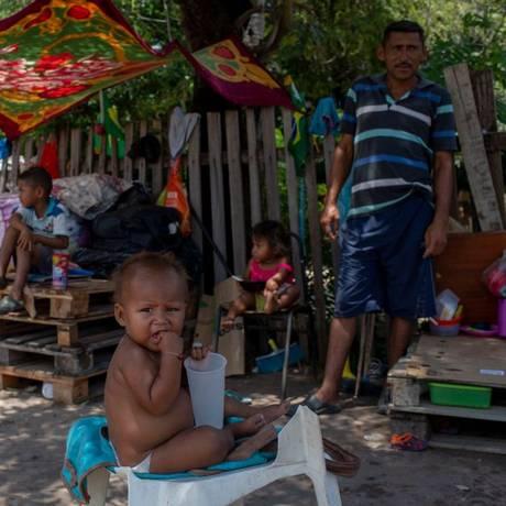 Venezuelanos em Roraima Foto: MAURO PIMENTEL / AFP