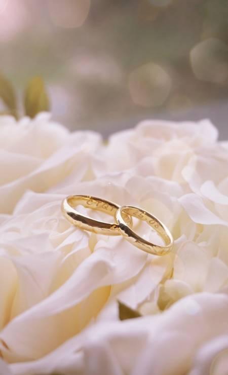 As alianças dos noivos são L/DANA Foto: Divulgação