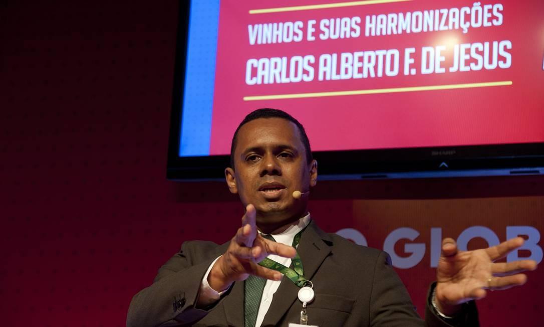 Carlos Aberto Félix, sommelier do Pão de Açúcar, fala sobre harmonização no Rio Gastronomia Foto: Adriana Lorete / Agência O Globo