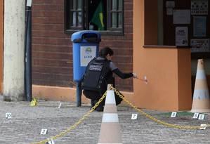 Falta de marcação em cartuchos impede rastreamento de munições, o que dificulta investigações Foto: Guilherme Pinto / 17-05-2016