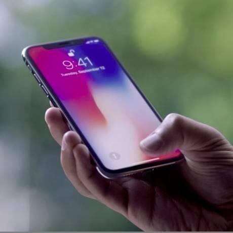 iPhone X, lançamento da Apple em 2017 Foto: Arquivo