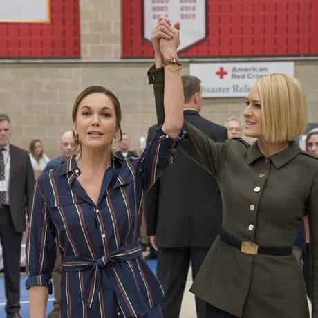 Diane Lane e Robin Wright na sexta temporada de 'House of Cards' Foto: David Giesbrecht/Netflix
