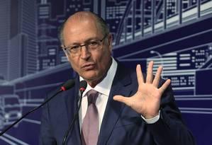 O candidato Geraldo Alckmin Foto: Edilson Dantas / Agência O Globo