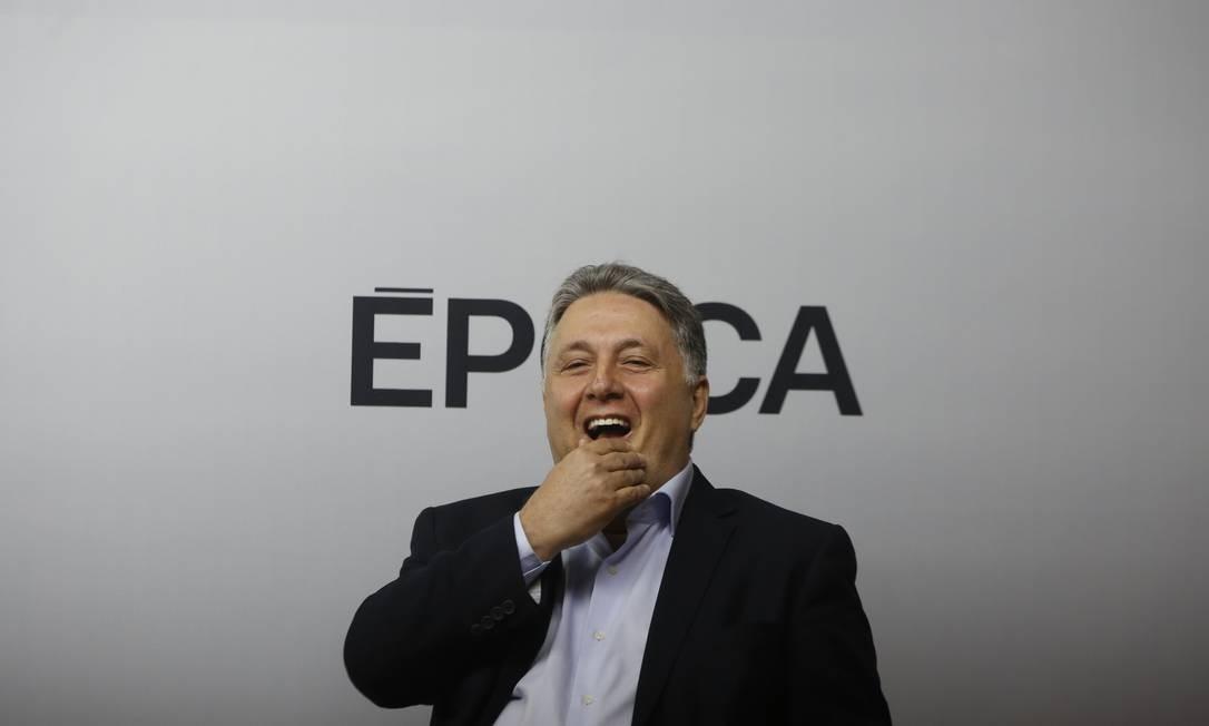 Garotinho durante o debate entre os candidatos ao governo do Rio de Janeiro Foto: Pablo Jacob / Agência O Globo