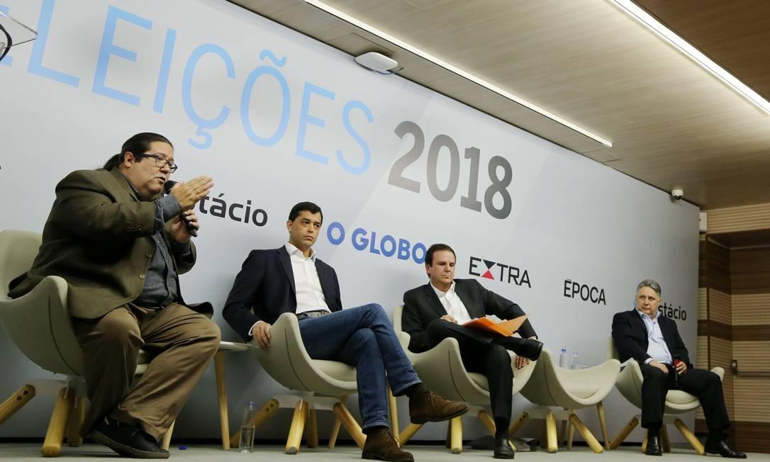 O evento durou duas horas e foi dividido em quatro blocos Foto: Marcia Foletto / Agência O Globo