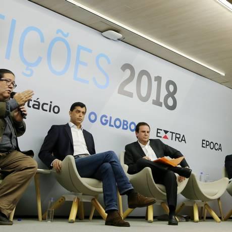 Candidatos ao governo do Rio participam de debate promovido pelo Globo, Extra e Época Foto: Marcia Foletto / Agência O Globo