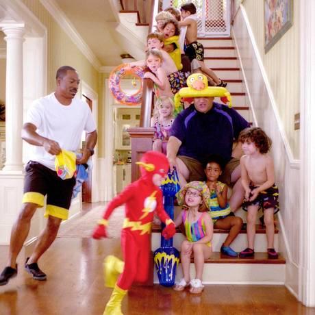 Eddie Murphy em cena da comédia 'A creche do papai': família vai aumentar Foto: Divulgação