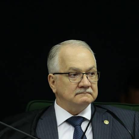 O ministro Edson Fachin, durante sessão da Segunda Turma do STF Foto: Jorge William/Agência O Globo/21-08-2018