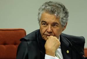 O ministro Marco Aurélio Mello, durante sessão da Primeira Turma do STF Foto: Jorge William / Agência O Globo