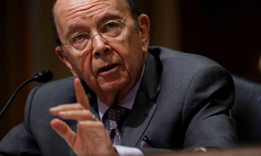 O secretário de Comércio dos EUA, Wilbur Ross Foto: Kevin Lamarque / Reuters