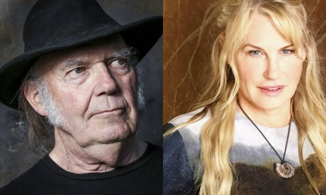Neil Young e Daryl Hannah: casal está junto desde 2014 Foto: Divulgação