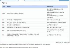 Página do acompanhamento processual da Justiça Federal mostra Lupi como réu Foto: Reprodução / Justiça Federal