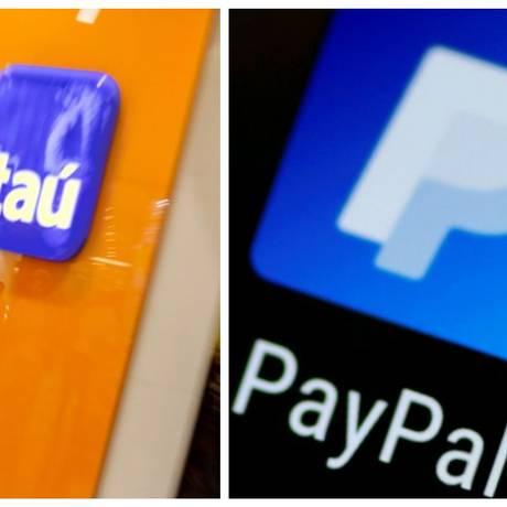 Itaú Unibanco e PayPal anunciaram parceria para ampliar o volume de vendas no comércio eletrônico Foto: Thomas White e Gustavo Azeredo / Agência O Globo e Reuters