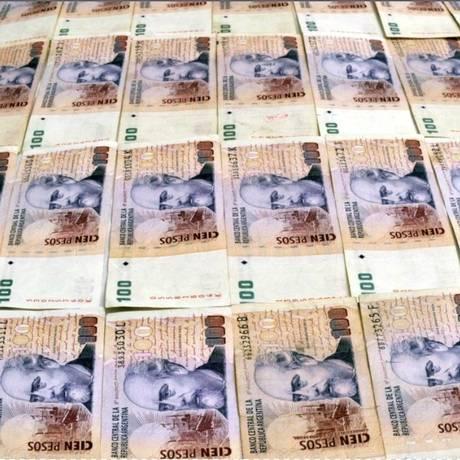 Notas de peso argentino Foto: Bloomberg