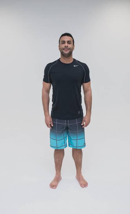 Adalberto Neto, 37 anos. Desafio: diminuir o percentual de gordura. Foto: Roberto Vianna Soares