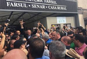 Candidato do PSL à Presidência, Jair Bolsonaro faz campanha em Porto Alegre (RS) Foto: Cristiane Jungblut