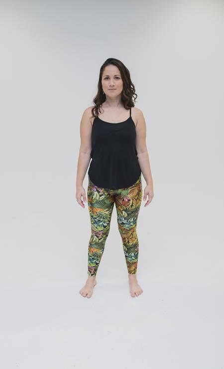 Lívia Neder, 32 anos. Desafio: retornar ao peso que tinha após o amamentação do seu filho e retomar a rotina de alimentação saudável e exercícios. Foto: Roberto Vianna Soares