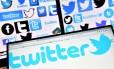 Logo do Twitter em computador