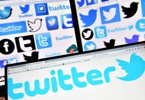 Logo do Twitter em computador Foto: Loica Venance/AFP/20-11-2017