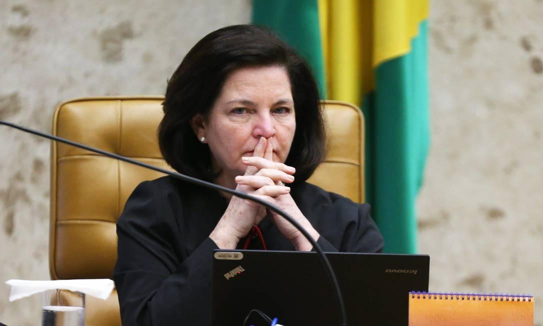 A procuradora-geral da República, Raquel Dodge, durante sessão do STF Foto: Ailton de Freitas/Agência O Globo/23-08-2018