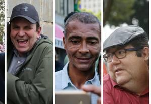 Anthony Garotinho (à esquerda), Eduardo Paes, Romário e Tarcísio Mota Foto: Fotos de arquivo